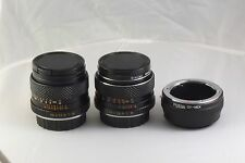 for SONY E-mount NEX bundle Lot 2 Lens Yashica 28 mm F2.8 50 mm F1.9 C/Y adapter