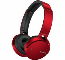 Sony MDRXB650BTR Extra Bass Cordless Bluetooth Over Ear Headphones In Red NEW