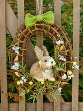 NEW!! Springtime Bunny in Wreath Easter Spring Country