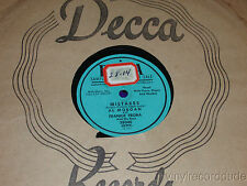 "AL MORGAN & FRANKIE FROBA My Castle In Spain/ Mistakes 10"" 78 Decca 28040 PROMO"