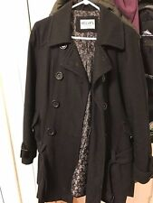 Women's size Large black wool thinsulated winter peacoat Delia's vintage