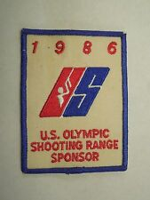 Vintage 1986 U.S. Olympic Shooting Range Sponsor Iron On Patch
