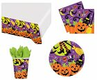 Halloween Birthday Party Tableware Napkins Plates Cups Tablecover Trick Or Treat