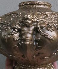 Vintage spelter pot metal lamp base cherub ribbons spacer part Shabby