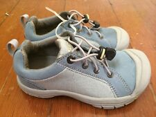 Keen Youth Light Blue Suede Canvas Oxfords Sz US 1 UK 13 EU 33 CM 19