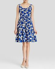 NWT Kate Spade New York Stamp Dot Print Flare Dress 12 Plant Tulip Bulbs NEW