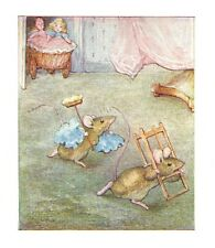 BEATRIX POTTER, The Tale of Two Bad Mice, Genuine Antique Print dated c1910