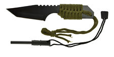 """7"""" Survival Hunting Knife 440 Steel with Steel Flint Fire Starter Camping Hiking"""