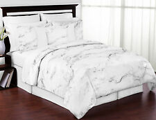 Natural Marble Gray Black and White King Size Teens Adult Bedding Comforter Sets