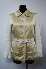 NOA NOA Women`s Jacket Size M Silk Linen Material Golden Spring Tailored Linen