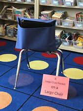 """1 LARGE SEAT SACK CHAIR POCKET  Fits Chairs 15"""" WIDE or Smaller Many Colors"""