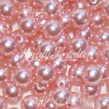 10mm Light Pink Acrylic Round Pearl Spacer Beads for bubblegum Princess favor