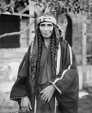 Bedouin Sheikh Woman Jerusalem 1906, Reproduction Photo 6x5 inch
