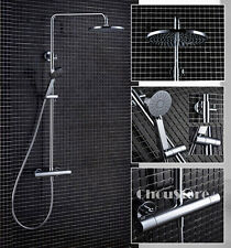 Bathroom Thermostatic Shower Mixer Valve Mixing Tap Set Rain Shower Faucet Set
