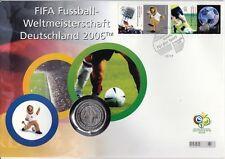 Germania NUMISBRIEF 10 Euro Argento 2005 Coppa del Mondo 2006