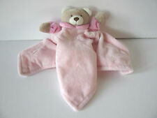 Baby Town pink 1 2 3 teddy bear comforter blanket doudou blankie baby soft toy