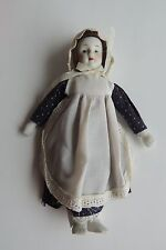 Vintage Hand Painted Porcelain Doll no Markings 8""