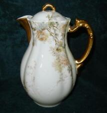 """BEAUTIFUL 9"""" HAVILAND LIMOGES FRANCE FLORAL CHOCOLATE COFFEE POT"""