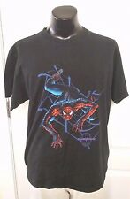 Marvel The Amazing Spider Man Web Logo Black T Shirt XL Movie Cartoon Rare