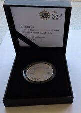 Royal Mint 2008 Silver Proof Piedfort £5 Prince Of Wales Cased With COA
