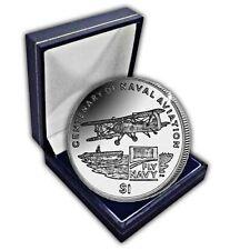 Îles vierges britanniques 2009 centenaire de l'aviation navale unc. cuni pièce dans une boîte