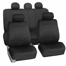 Car Seat Covers for Auto Neoprene Airbag Compatible Split Black for Toyota