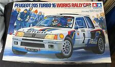 Peugeot 205 TURBO 16 Works Rally car TAMIYA 1/24 vintage model kit