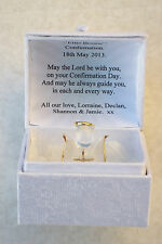 Confirmation Angel box@22kt gold@personalised Ensemble Cadeau