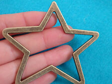 1 large star charms pendants bronze antique jewellery making wholesale UK craft