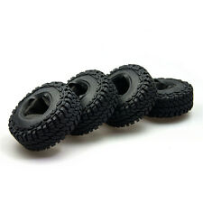 """4Pcs 1.9"""" 114mm OD Rubber Tyres w/ foam inserted for 1/10 RC Crawler Axial SCX10"""