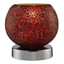 SEARCHLIGHT CRACKLE RED BEDSIDE HOME OFFICE BEDROOM STUDY DESK TOUCH TABLE LAMP