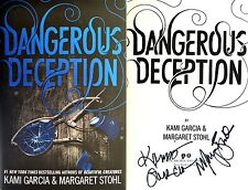 Kami Garcia & Margaret Stohl-SIGNED 2X-Dangerous Deception-1st/1st + Photos!