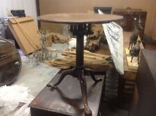antique english walnut tilt top tea table