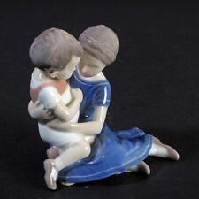 Bing & Gröndahl Copenhagen Porzellanfigur Bruder Schwester Kinder Geschwister