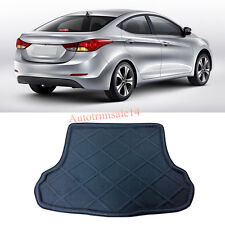 Black Interior Rear Trunk Boot Mat Carpet For Hyundai Avante / Elantra 2012-2015