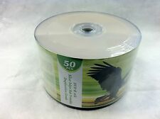 50 ct DVD-R 16X Silver Inkjet HUB Printable Disc Media FREE Expedited Shipping