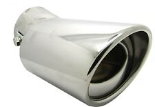 Stainless Steel Universial Exhaust Tail Pipe Chrome 55mm Oval Rear Muffler Tip