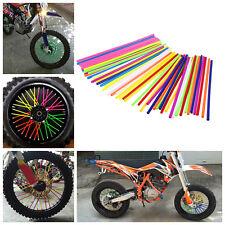 Wheel Spoke Wraps Rims Skins Coat Covers Protector Motocross Pit Dirt Bike 72pcs