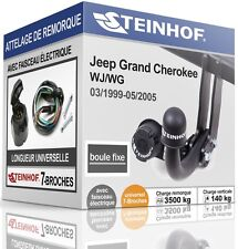 ATTELAGE fixe JEEP GRAND CHEROKEE WJ/WG 1999-2005 + FAISC.UNIV.7-broches