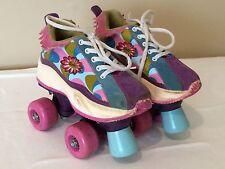 Barbie Child Size Roller Skates, 4 Wheels, Children's Size 13 *BP