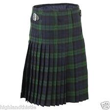 """Orologio Nero Kilt scozzese con due Fibbia, Casual Kilt, taglia 42 """""""