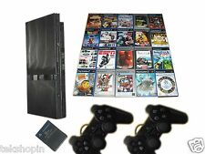 Sony PS2 Slim Konsole + 2 Original Controller + 5 Spiele Gratis * Playstation 2