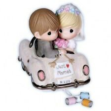 Precious Moments Just Married Wedding Car 1st Anniversary Newlywed Couple Gift
