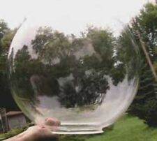 """ACRYLIC  GLOBE 12"""" CLEAR SPHERE HOLLOW BALL WITH 3.5"""" HOLE, NO NECK  16249-40"""