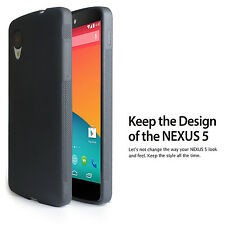 Matte Back Black Flexible TPU Case for LG Nexus 5 - Ultra Thin 2014 NEW