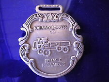 Railway Express Company Watch Fob Silver color metal