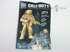 Call of Duty COD Mega Bloks #99707 Ghosts Gold Exclusive 2014 New Sealed