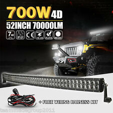 4D 52INCH 700W CURVED LED LIGHT BAR WORK FLOOD SPOT BEAM OFFROAD 4WD CAR TRACTOR