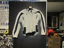 USED LADIES FIELDSHEER MOTORCYCLE JACKET,COAT WITH LINER & ARMOR GRY/BLK SIZE 6