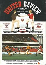 Manchester United v Arsenal - Div 1 - 20/2/1982 - Football Programme